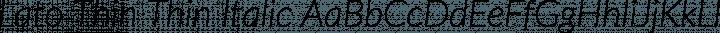 Lato Thin Thin Italic free font