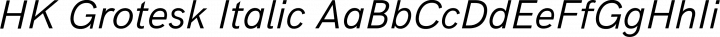 HK Grotesk Italic free font