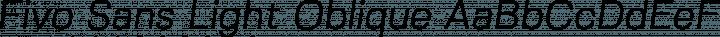 Fivo Sans Light Oblique free font