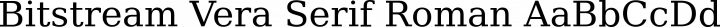 Bitstream Vera Serif Roman free font