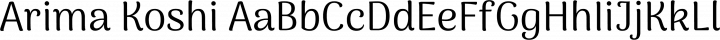 Arima Koshi Regular free font