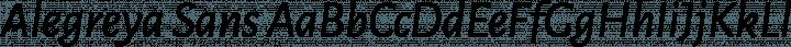 Alegreya Sans font family by Juan Pablo del Peral