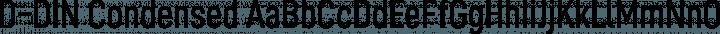 D-DIN Condensed Regular free font
