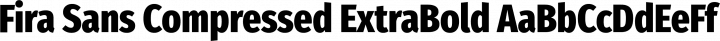 Fira Sans Compressed ExtraBold free font