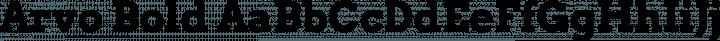 Arvo Bold free font