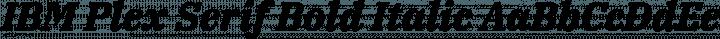 IBM Plex Serif Bold Italic free font
