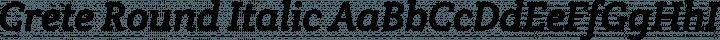 Crete Round Italic free font