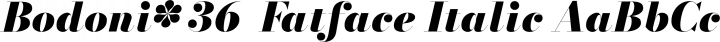 Bodoni* 36  Fatface Italic free font