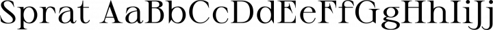Sprat font family by Ethan Nakache
