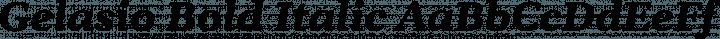 Gelasio Bold Italic free font