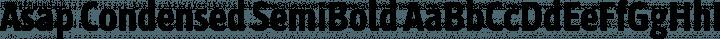 Asap Condensed SemiBold free font