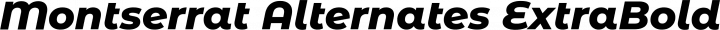 Montserrat Alternates ExtraBold Italic free font