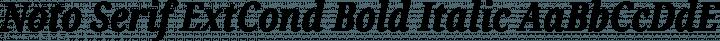 Noto Serif ExtCond Bold Italic free font