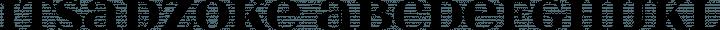 itsadzoke font family by GLUK fonts