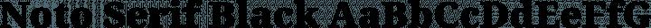 Noto Serif Black free font