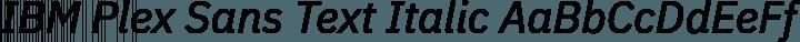 IBM Plex Sans Text Italic free font