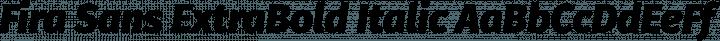 Fira Sans ExtraBold Italic free font