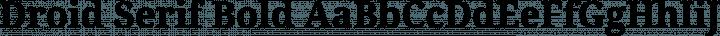 Droid Serif Bold free font