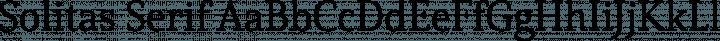 Solitas Serif Regular free font