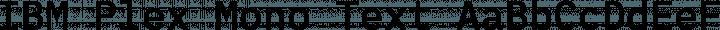 IBM Plex Mono Text free font