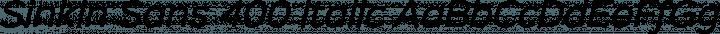 Sinkin Sans 400 Italic free font