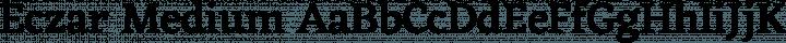 Eczar Medium free font