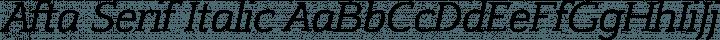 Afta Serif Italic free font