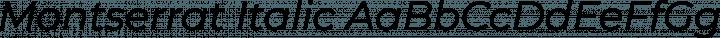 Montserrat Italic free font