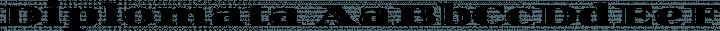 Diplomata Regular free font