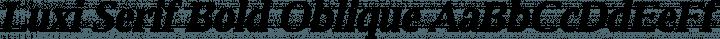 Luxi Serif Bold Oblique free font