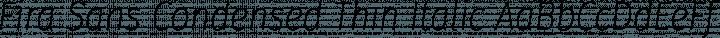 Fira Sans Condensed Thin Italic free font