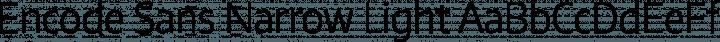 Encode Sans Narrow Light free font