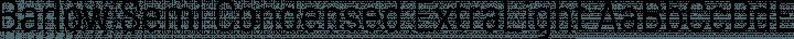 Barlow Semi Condensed ExtraLight free font