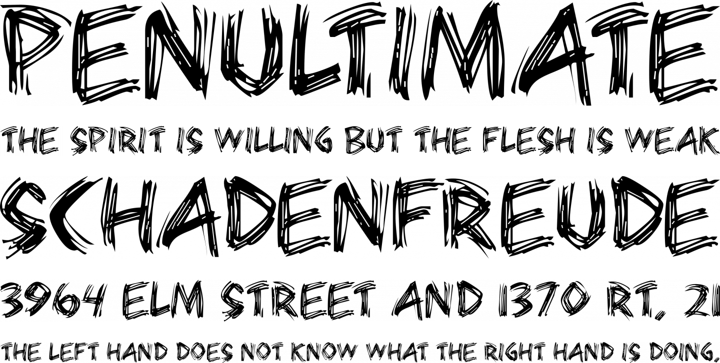 Bearpaw Font Free by Dennis Anderson » Font Squirrel