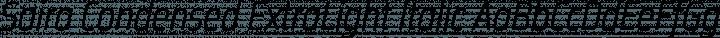 Saira Condensed ExtraLight Italic free font