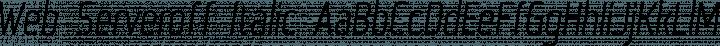 Web Serveroff Italic free font
