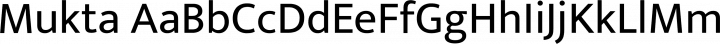Mukta font family by EK Type