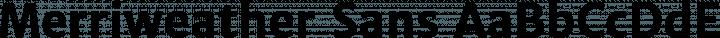 Merriweather Sans font family by Sorkin Type Co