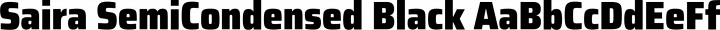 Saira SemiCondensed Black free font