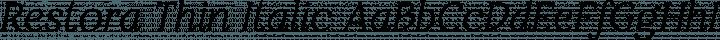 Restora Thin Italic free font