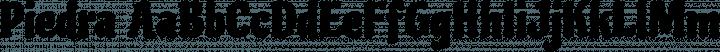 Piedra Regular free font