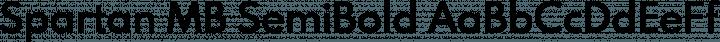 Spartan MB SemiBold free font