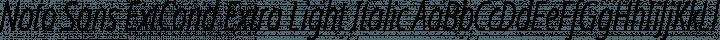 Noto Sans ExtCond Extra Light Italic free font
