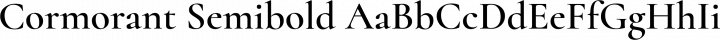Cormorant Semibold free font