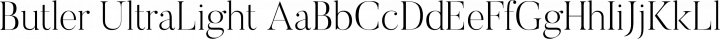 Butler UltraLight free font