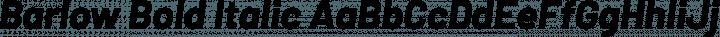 Barlow Bold Italic free font