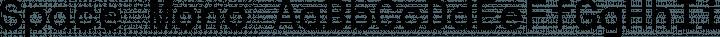 Space Mono Regular free font