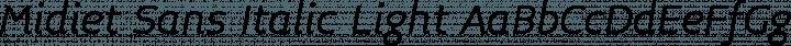 Midiet Sans Italic Light free font