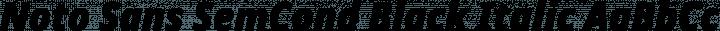 Noto Sans SemCond Black Italic free font