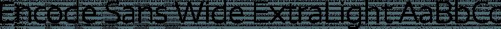 Encode Sans Wide ExtraLight free font